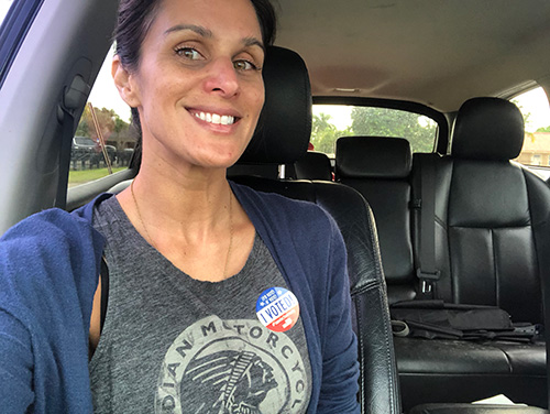 Christine voted